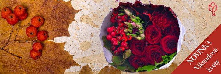 Kvety na víkend aj na predvianočné obdobie